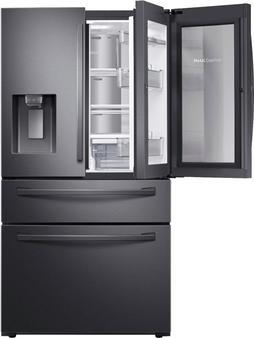 Samsung - 22.4 cu. ft. 4-Door French Door Counter Depth Refrigerator with Food Showcase