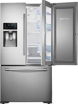 Samsung - 23 cu. ft. Counter Depth 3-Door Food ShowCase Refrigerator