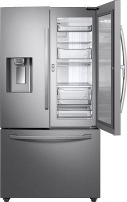 Samsung - 27.8 Cu. Ft. French Door Fingerprint Resistant Refrigerator with Food Showcase